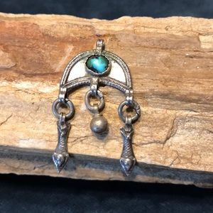 Jewelry - Sterling Silver and Turquoise Pendant